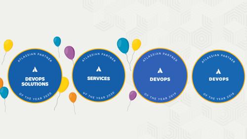 4 atlassian badges