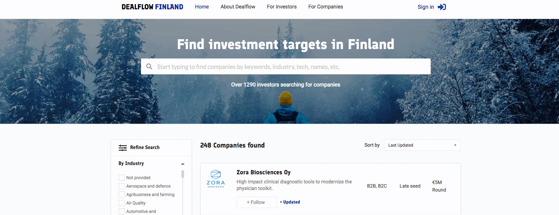 Dealflow business finland