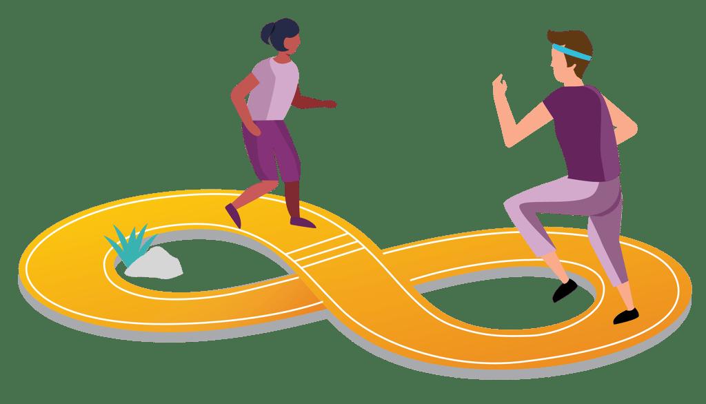 Landing page illustrations - Competitive Hero transparent