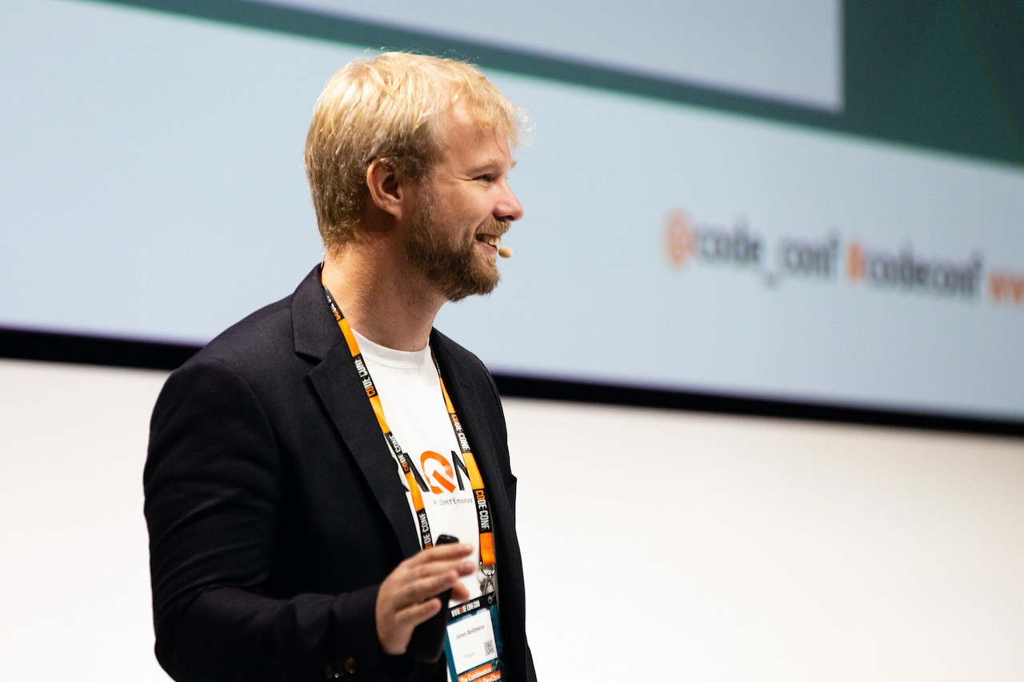 johan abildskov at code-conf 2018