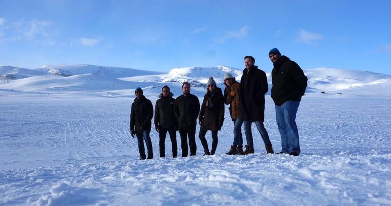 Oslo team on a ski trip