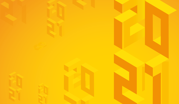 2021 on yellow background