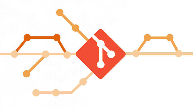 git logo with git branches going in different directions