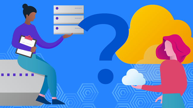 Server vs Cloud with a question mark