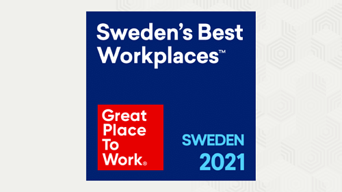 Riada, now part of Eficode, among Sweden's Best Workplaces 2021