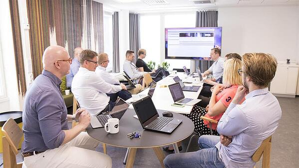eficode team in a meeting