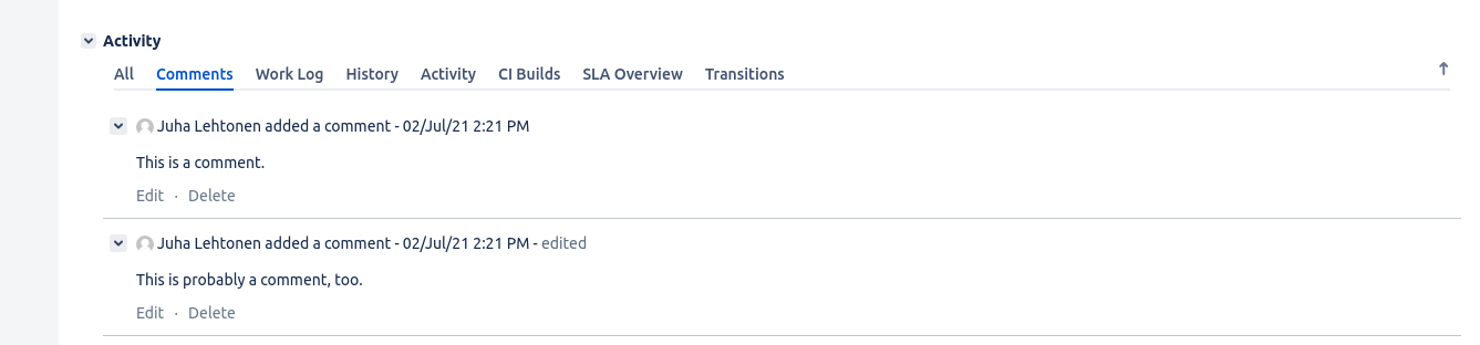 Jira comment refresh