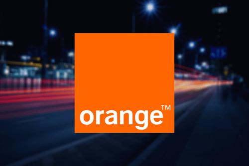 orange logo background