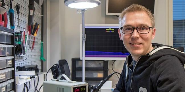 CEO Risto Virkkala sitting by the desk