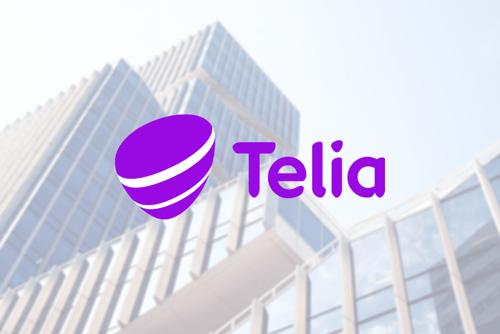 telia logo with background